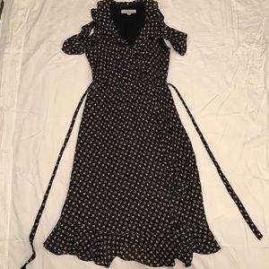 Ann Taylor LOFT Dress - Small - Ruffle Faux Wrap